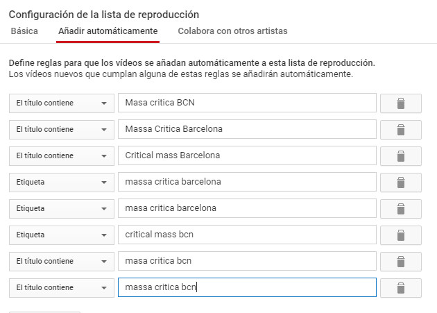 how to add videos to critical mass bcn