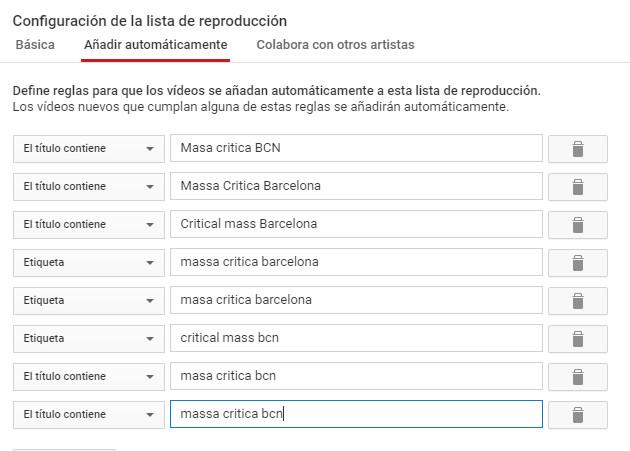 videos masa critica bcn como subir